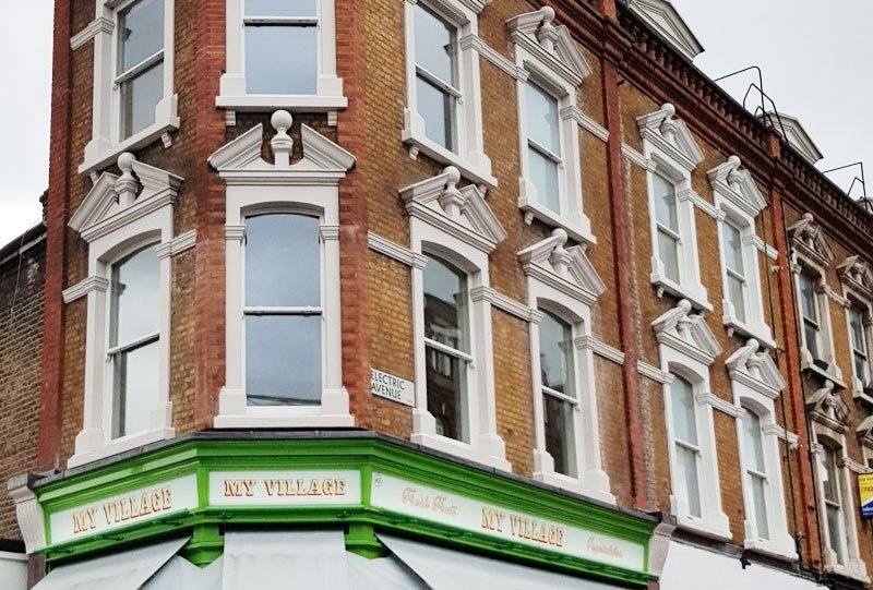 Buildings we restored on Electric Avenue, Brixton