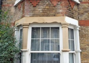 Lintel replacement, bay window
