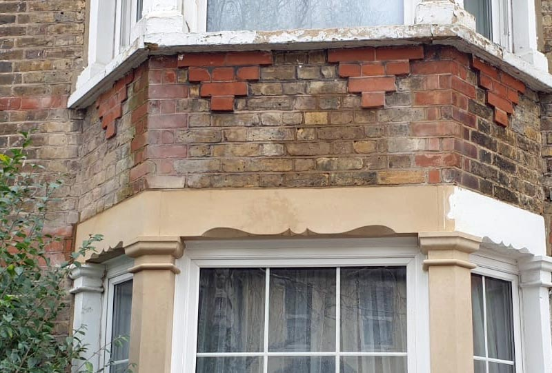 Window lintel installation - after repair