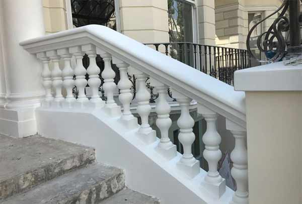 Stone balustrade installation London