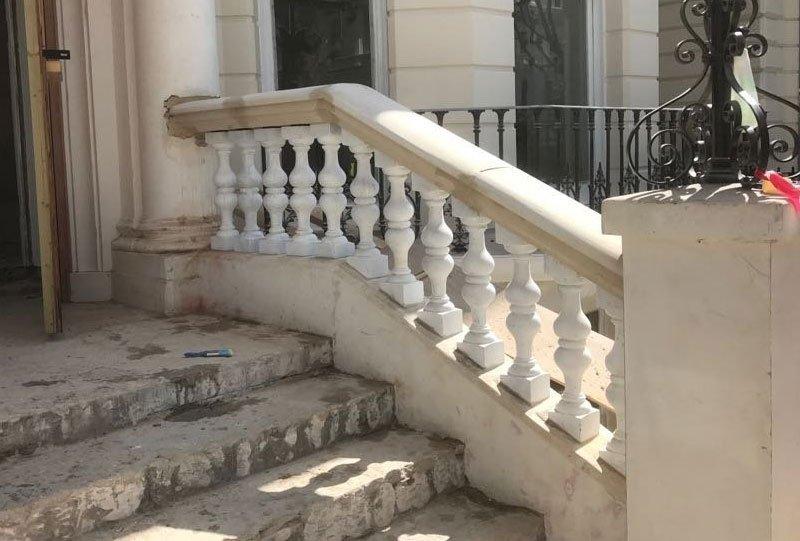 Stone balustrades work in progress