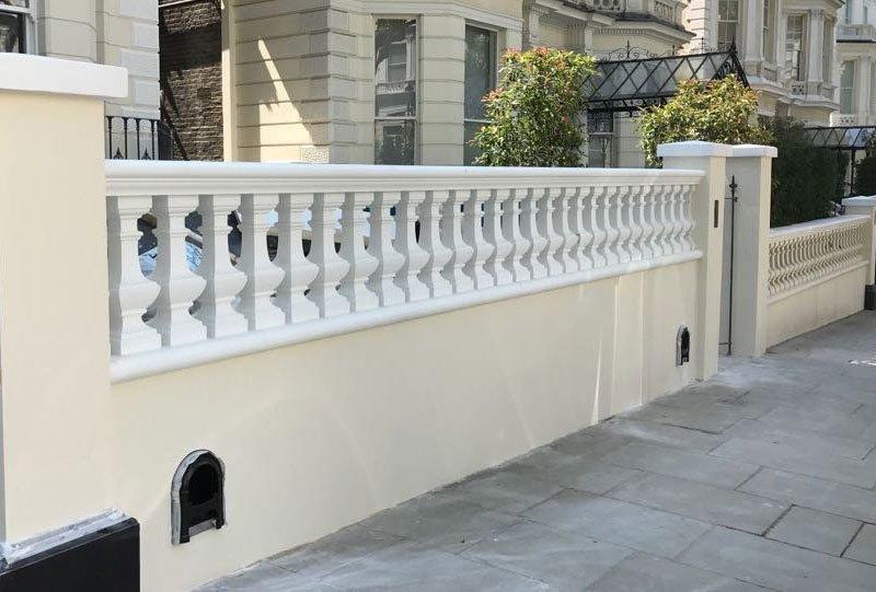 Restored stone balustrades