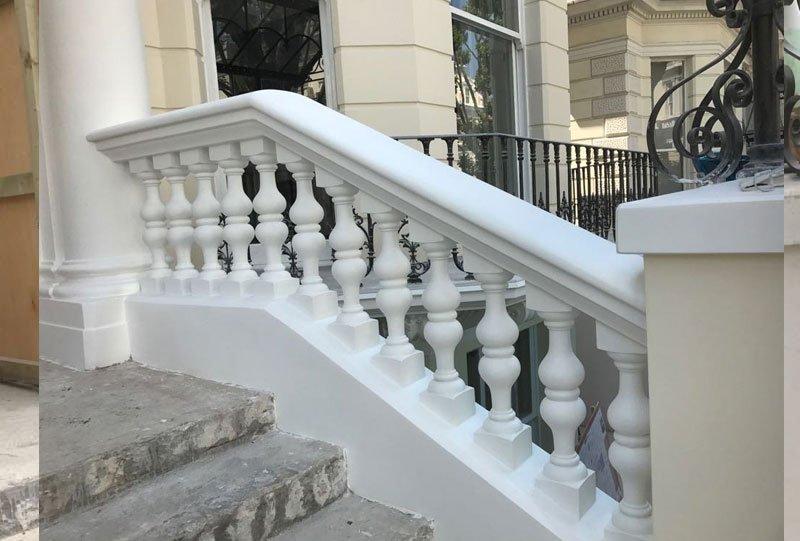Stone balustrades after restoration