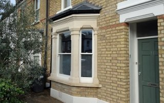 Render removal and new bay window project London