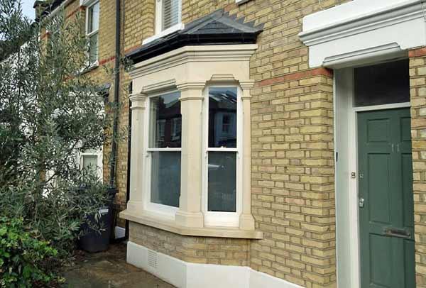 New bay window by London Stonemasonry