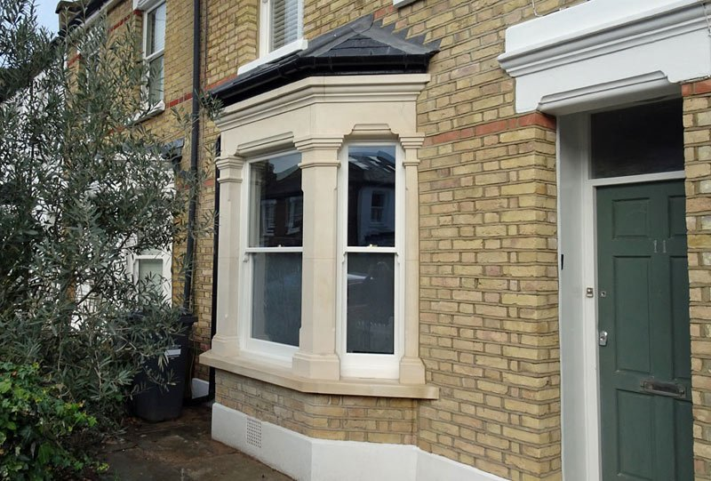 Render removal and new bay window London