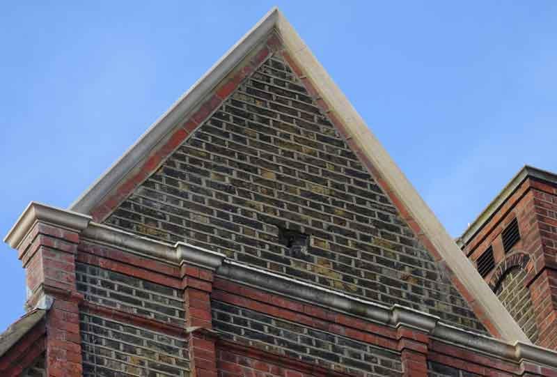 Gable end wall repairs by London Stonemasonry
